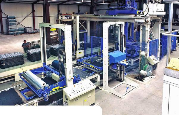 Liniedopakowaniakostkibrukowej producentmaszynpakującychCyklop